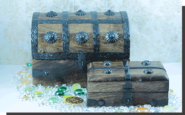 Unique Gift Treasure Chests and pirate Booty