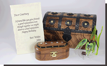 Treasure Chest with message scroll