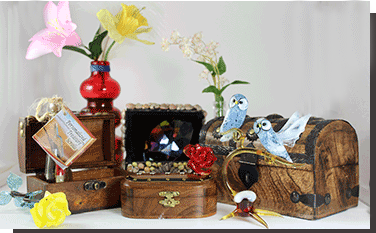 Treasure Chests and Blown Glass